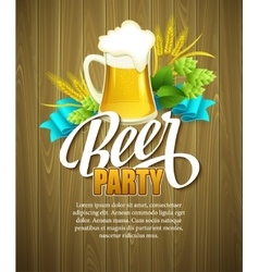 Oktoberfest Background with Beer Poster template vector image vector image