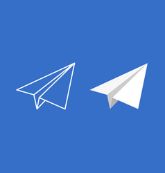 paper plane icon set origami paper vector image