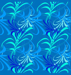 pattern of blue and white lines and kanji vector image