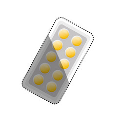 pills medicine drug vector image