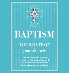 Postcard christian baptism vector