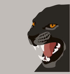 puma face flat style front vector image