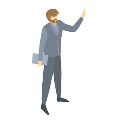 research team leader icon isometric style vector image