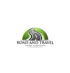 road construction creative logo vector image