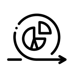 Round graph in center agile arrow mark icon vector
