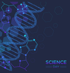 Science day biology dna strand background vector