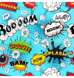 Seamless pattern comic speech bubbles illus vector