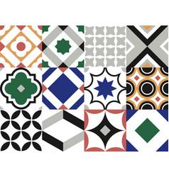 seamless tile pattern vintage decorative design vector image