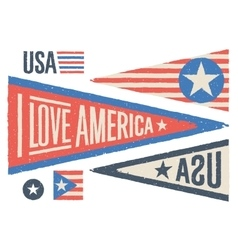 set design elements for independence day in usa vector image