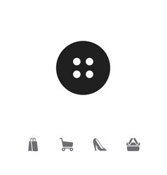 set of 5 editable business icons includes symbols vector image
