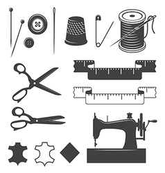 Sewing elements vector image