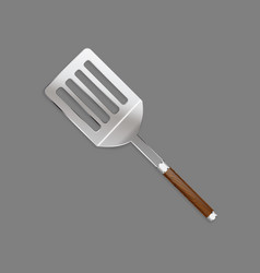 Shovels skimmer with a beautiful wooden handle vector