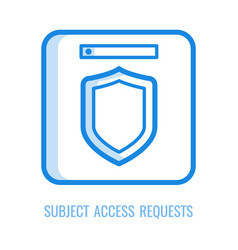 Subject access requests icon - thin outline symbol vector