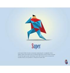 Super hero origami style icon vector