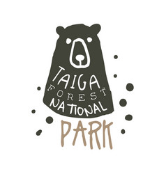 Taiga forest national park design template hand vector