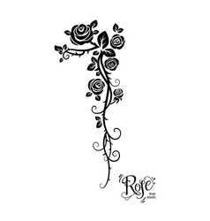 Tattoo rose flowers vector