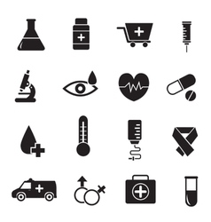 thin line medical set icons concept design vector image