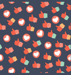 Thumb up seamless background vector
