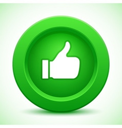 Thump up green button vector
