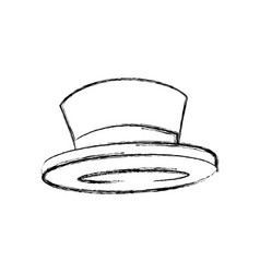 Top hat elegant accessory fashion object vector