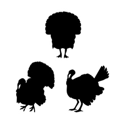 Turkey silhouettes vector