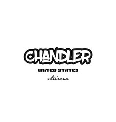 United states chandler arizona city graffitti vector