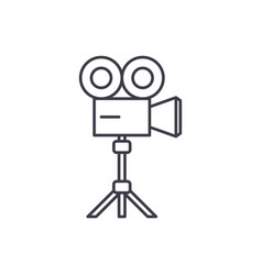 video shooting line icon concept video shooting vector image