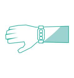 Watch hand technology vector