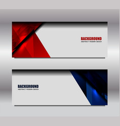 Web red blue banner vector