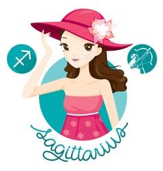 Woman With Sagittarius Zodiac Sign vector image
