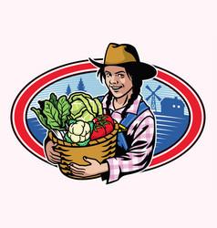Women farmer design vector