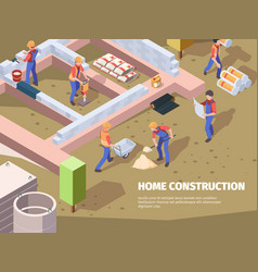 workers foundation building architects vector image