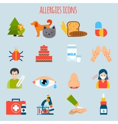 Allergies Icon Set vector image