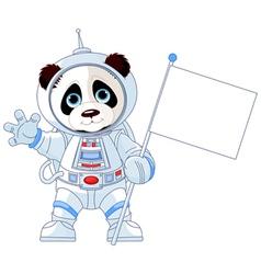 Astronaut Panda vector image vector image