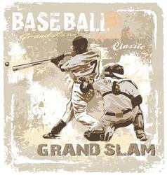 baseball Grandslam classic vector image