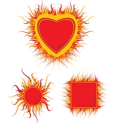fire frame vector image