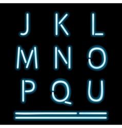 Neon Light Alphabet 2 vector image