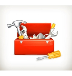 Red toolbox vector image vector image