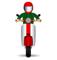 scooter biker front view vector image