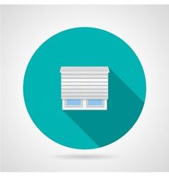 Jalousie window flat icon vector image