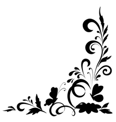 Abstract floral background silhouettes vector image