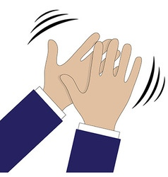 Hands clapping symbol icons for video vector image vector image