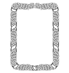 laurels square wreath tied ribbon black frame vector image vector image