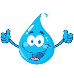 Smiling Water Drop vector image vector image
