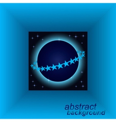 Abstract space tunnel background vector image
