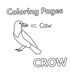 cartoon crow coloring book vector image