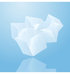 Five ice cubes vector