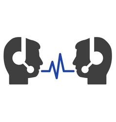 operator dialog signal flat icon vector image