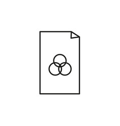 rgb color file icon vector image