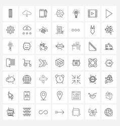 49 universal line icon pixel perfect symbols vector